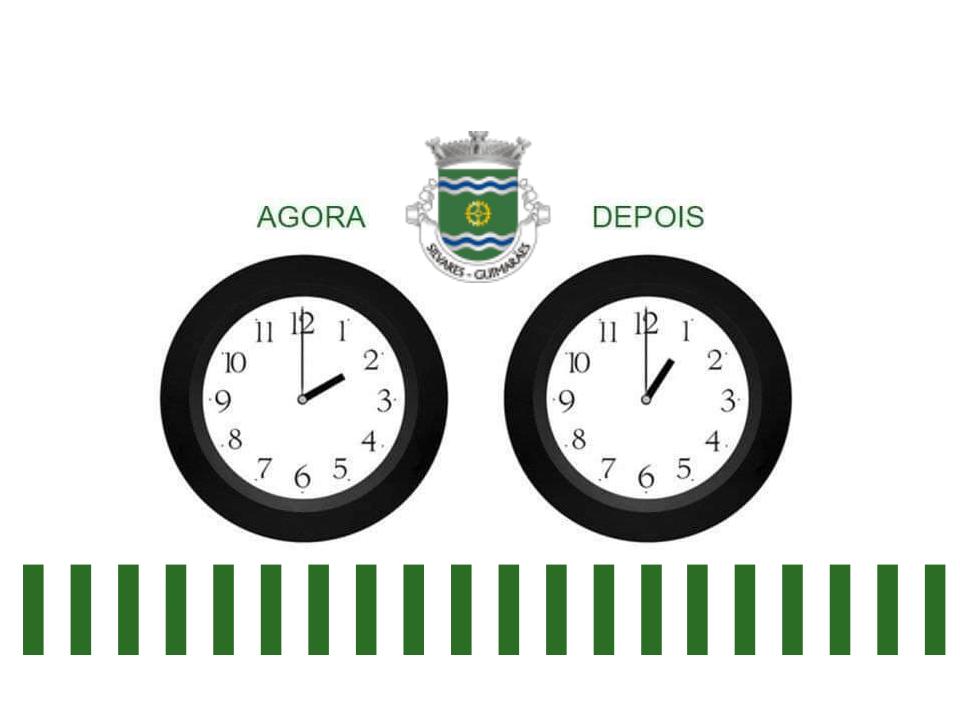 Horário Inverno | Não se esqueça de atrasar o seu relógio.