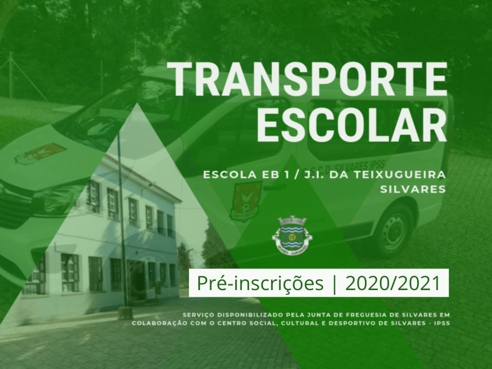 Transporte Escolar | Abertas as Inscrições