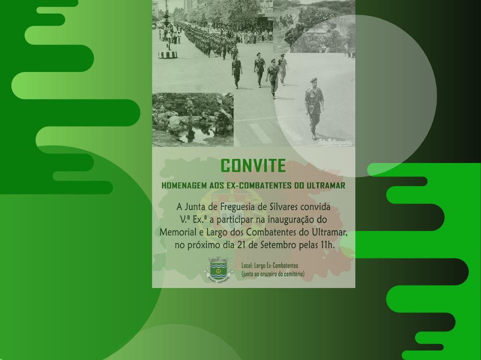 Homenagem aos Ex-Combatentes do Ultramar | Convite