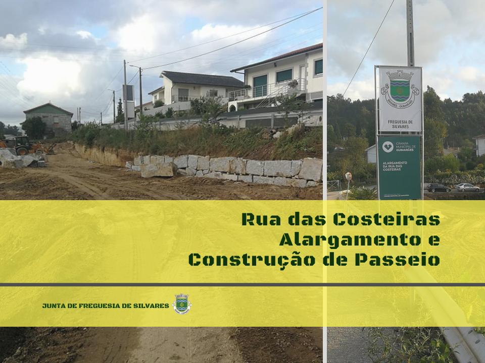 Obras de beneficiação  da Rua das Costeiras