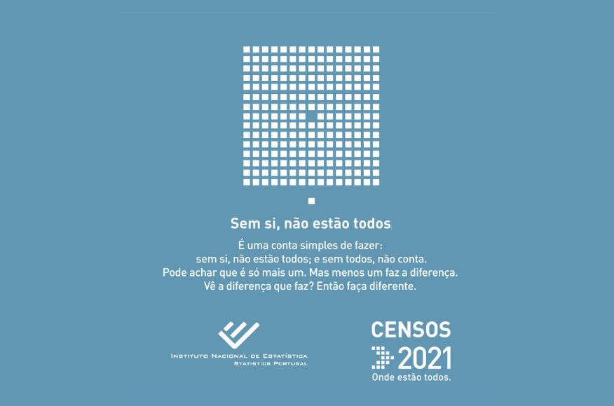 Censos 2021 | Contamos todos. Contamos com todos.