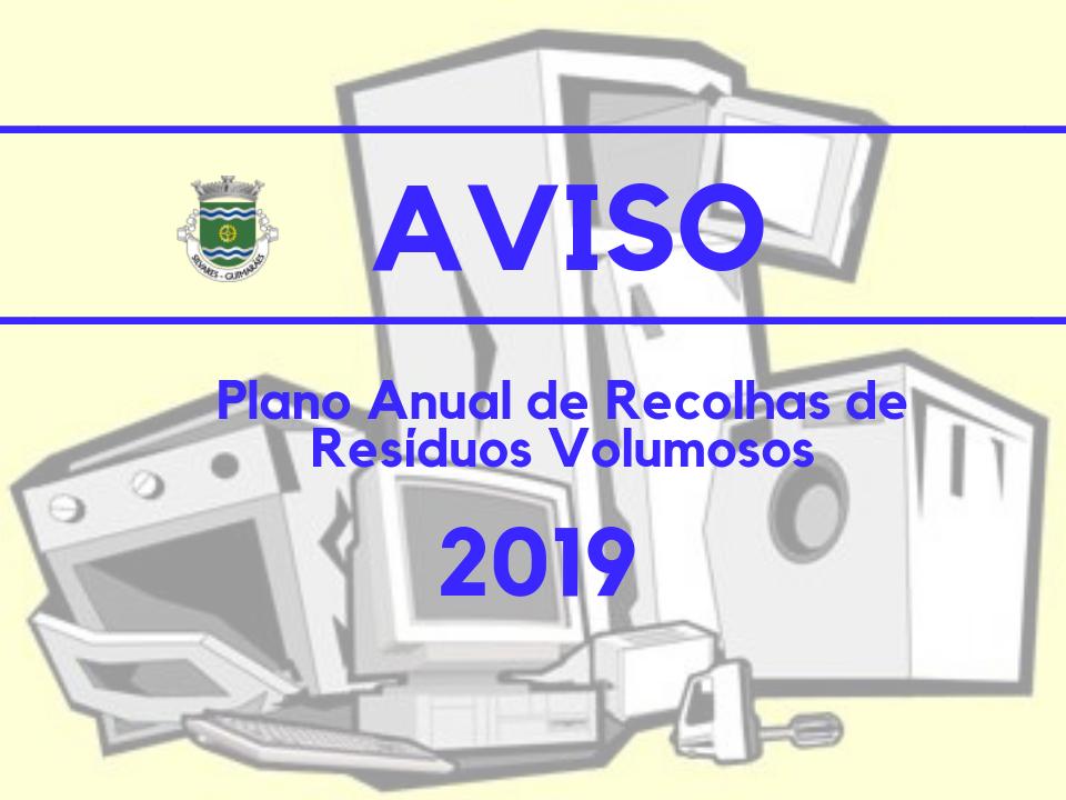 Recolha de Resíduos Volumosos | Plano Anual de 2019