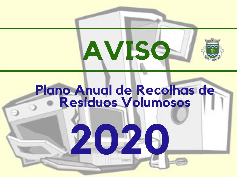 Recolha de Resíduos Volumosos | Plano de 2020