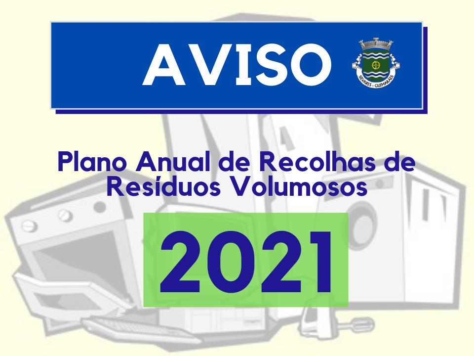 Recolha de Resíduos Volumosos | Plano de 2021